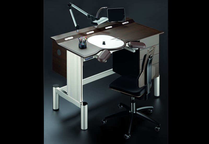 Bergeon unveils slick ergonomic watchmaking bench watchpro Watchmakers bench