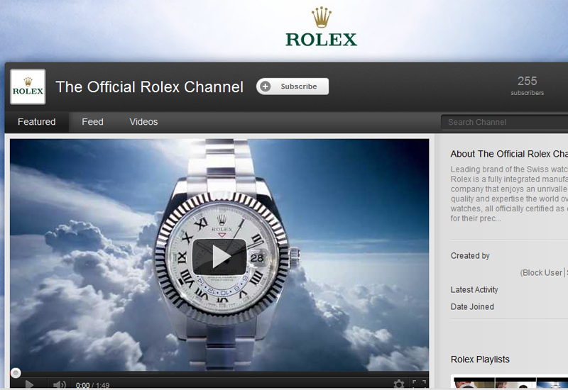rolex moves into social media with youtube launch watchpro