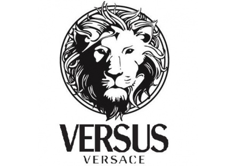 Versace logo black and gold
