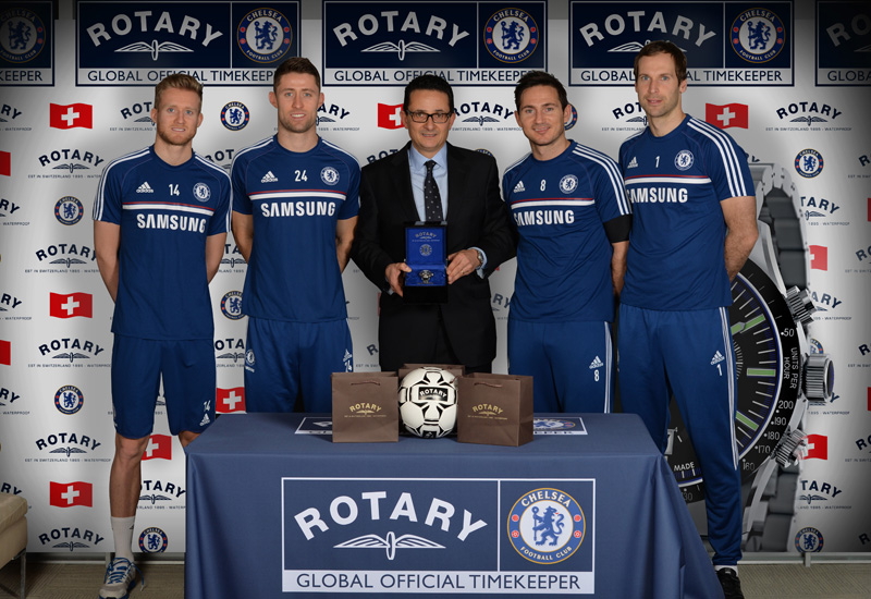 Chelsea Fc Players Presented With Custom Rotary