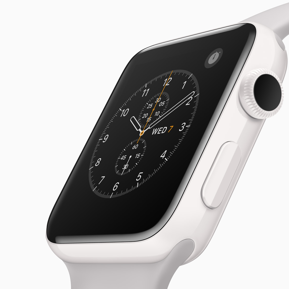 The Apple Watch 2 with ceramic case.