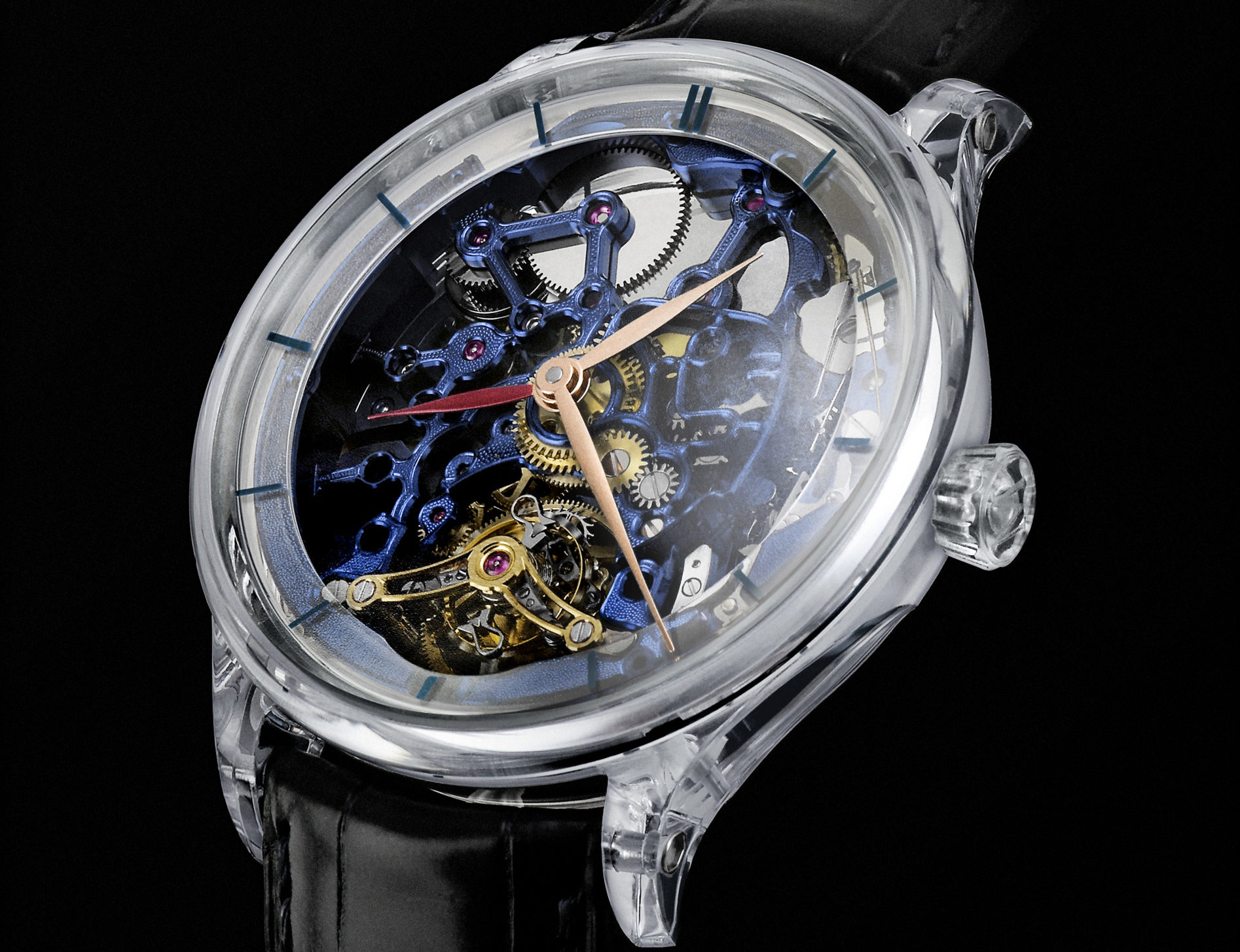 H.MOSER & CIE. 2803 Blue Tourbillon Unique