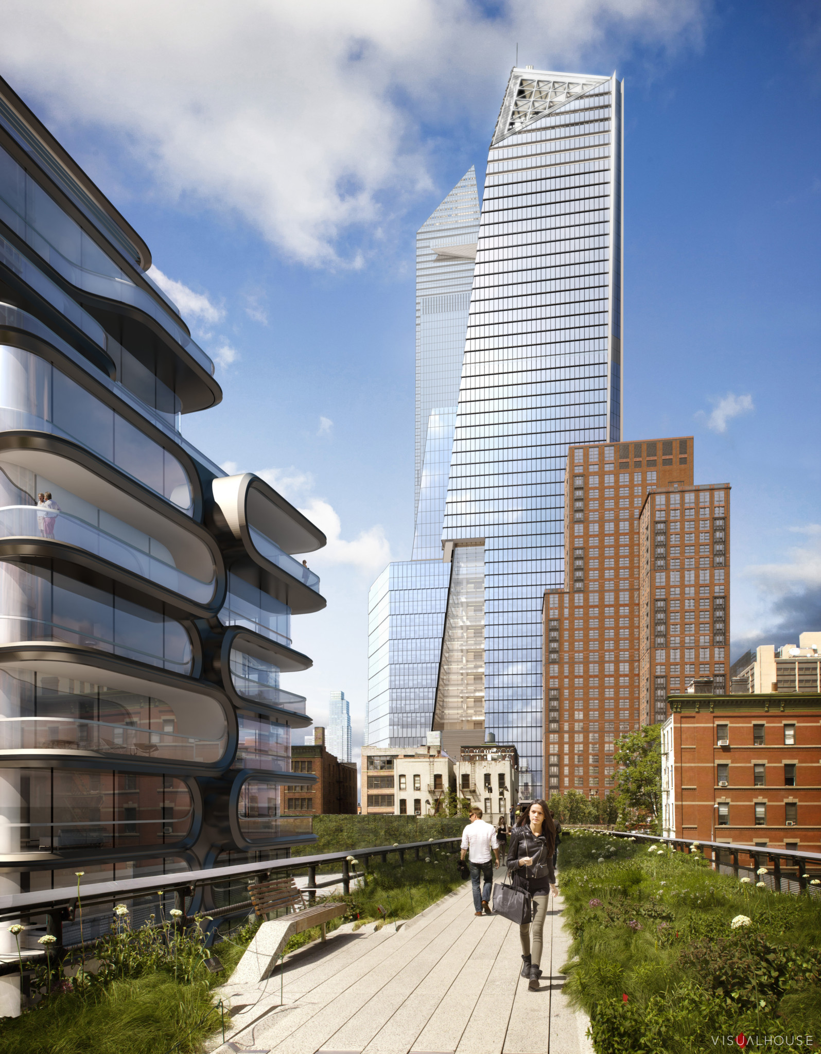An artist's impression of how Hudson Yards will look.
