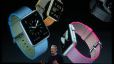 CUPERTINO, CA - MARCH 21:  Apple CEO Tim Cook speaks about the Apple Watch during an Apple special event at the Apple headquarters on March 21, 2016 in Cupertino, California. The company is expected to update its iPhone and iPad lines, and introduce new bands for the Apple Watch.  (Photo by Justin Sullivan/Getty Images)