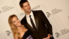 Tennis player Novak Djokovic and his wife Jelena arrive at the Charity Gala Dinner for the Novak Djokovic Foundation on September 20, 2016 in Milan. / AFP / ALBERTO PIZZOLI        (Photo credit should read ALBERTO PIZZOLI/AFP/Getty Images)