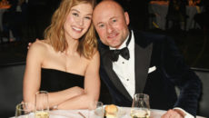 "GENEVA, SWITZERLAND - JANUARY 17:  Rosamund Pike (L) and IWC CEO Georges Kern attend the IWC Schaffhausen ""Decoding the Beauty of Time"" Gala Dinner during the launch of the Da Vinci Novelties from the Swiss luxury watch manufacturer IWC Schaffhausen at the Salon International de la Haute Horlogerie (SIHH) on January 17, 2017 in Geneva, .  (Photo by David M. Benett/Dave Benett/Getty Images for IWC) *** Local Caption *** Rosamund Pike; Georges Kern"