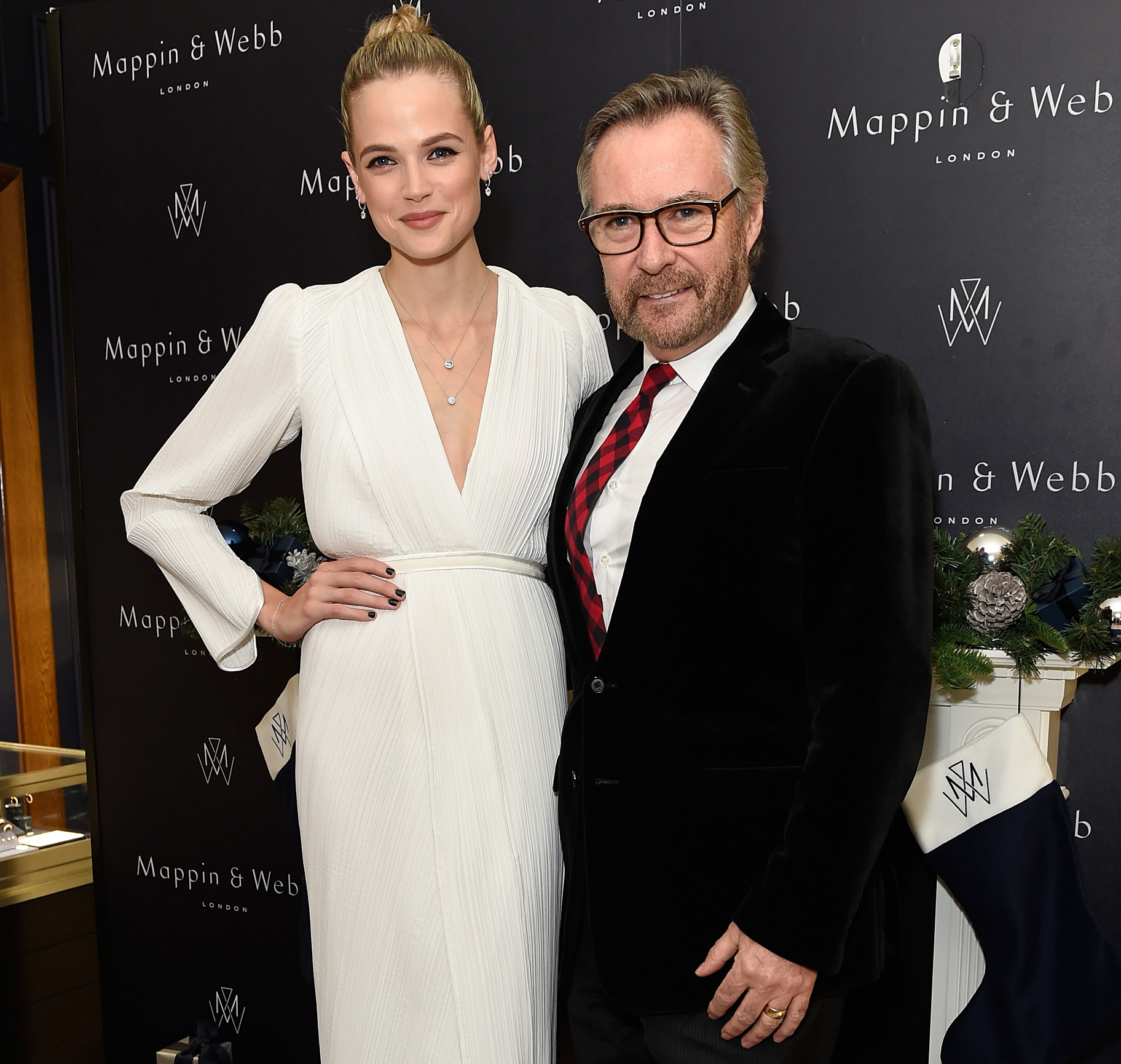 Gabriella Wilde, the face of Mappin & Webb, attended the party with Brian Duffy to reopen the Regent Street store in 2016.