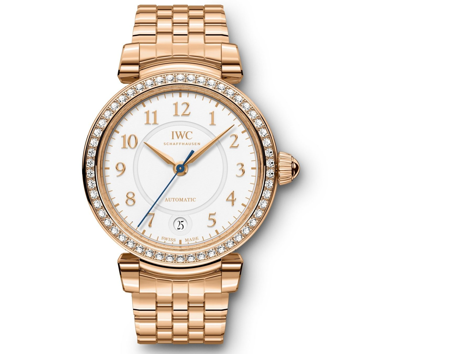 IWC Da Vinci rose gold with diamonds