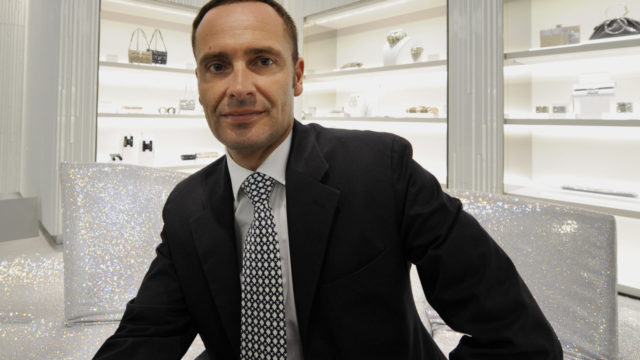 Swarovski Executive Board Member and head of Consumer Goods Business division Robert Buchbauer poses at the Swarovski Ginza shop in central Tokyo on March 27, 2008. The Swarovski Ginza held the opening reception on the day.  AFP PHOTO / TOSHIFUMI KITAMURA (Photo credit should read TOSHIFUMI KITAMURA/AFP/Getty Images)