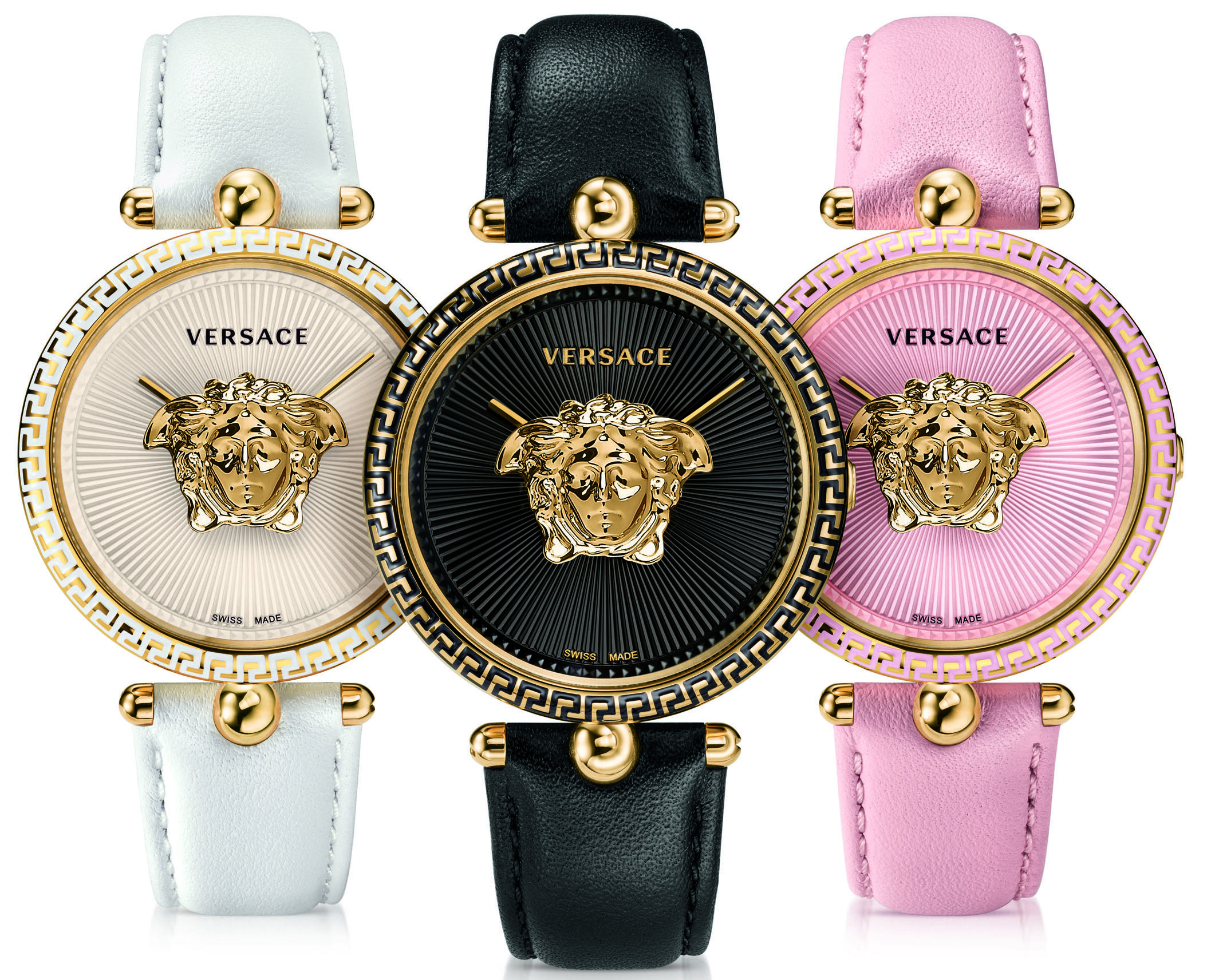 Versace presents floating golden Medusa within its Palazzo ...
