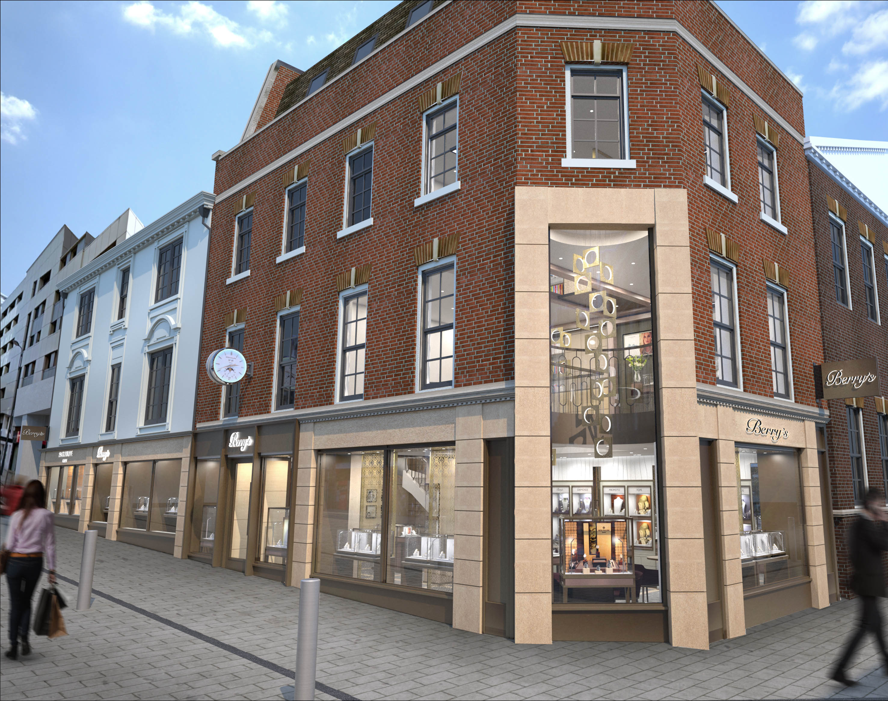 Berry's is doubling the size of its flagship Leeds store this summer. This artist's impression shows how the corner position gives space to jewellery and luxury watch brands.
