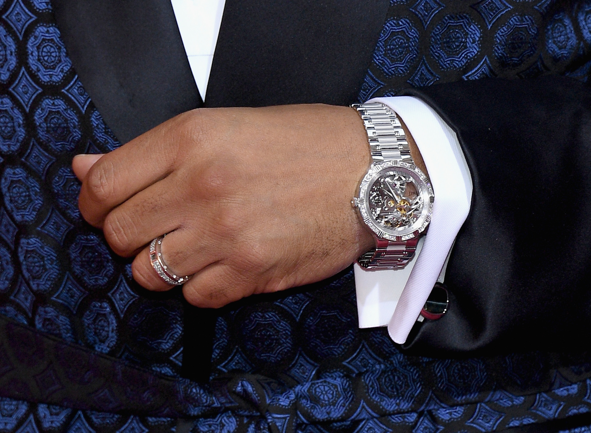 HOLLYWOOD, CA - FEBRUARY 26: Actor Terrence Howard, watch detail, attends the 89th Annual Academy Awards at Hollywood & Highland Center on February 26, 2017 in Hollywood, California. (Photo by Kevork Djansezian/Getty Images)