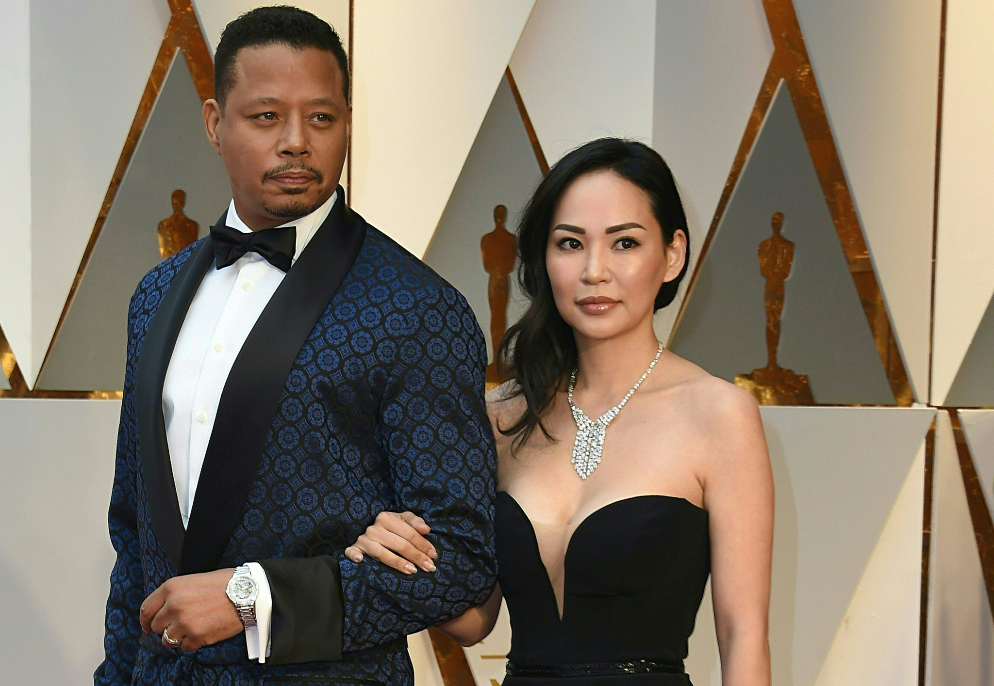 Actor Terrence Howard arrives on the red carpet for the 89th Oscars on February 26, 2017 in Hollywood, California.  / AFP / VALERIE MACON        (Photo credit should read VALERIE MACON/AFP/Getty Images)