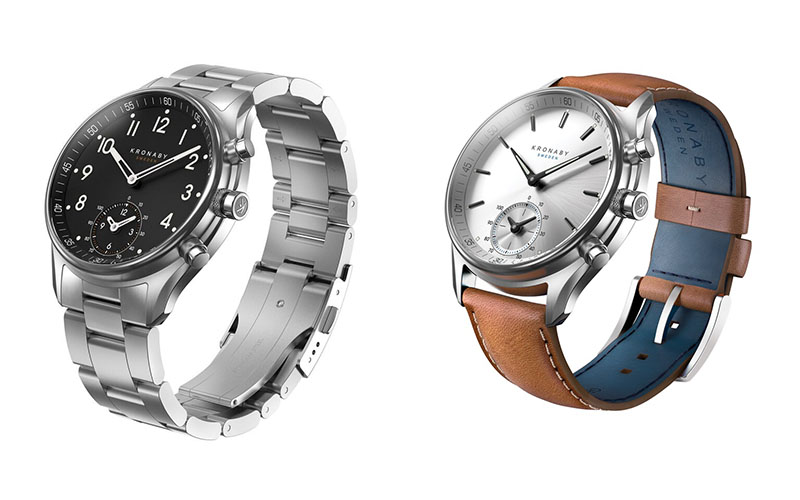 Left to right: The new Apex and Sekel watches from the Connected range.