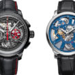 Left to right: The Masterpiece Chronograph Skeleton and the Masterpiece Skeleton.