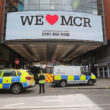 MANCHESTER, ENGLAND - MAY 23:  Police avacuate the Arndale Centre on May 23, 2017 in Manchester, England.  An explosion occurred at Manchester Arena as concert goers were leaving the venue after Ariana Grande had performed.  Greater Manchester Police are treating the explosion as a terrorist attack and have confirmed 22 fatalities and 59 injured.  (Photo by Christopher Furlong/Getty Images)