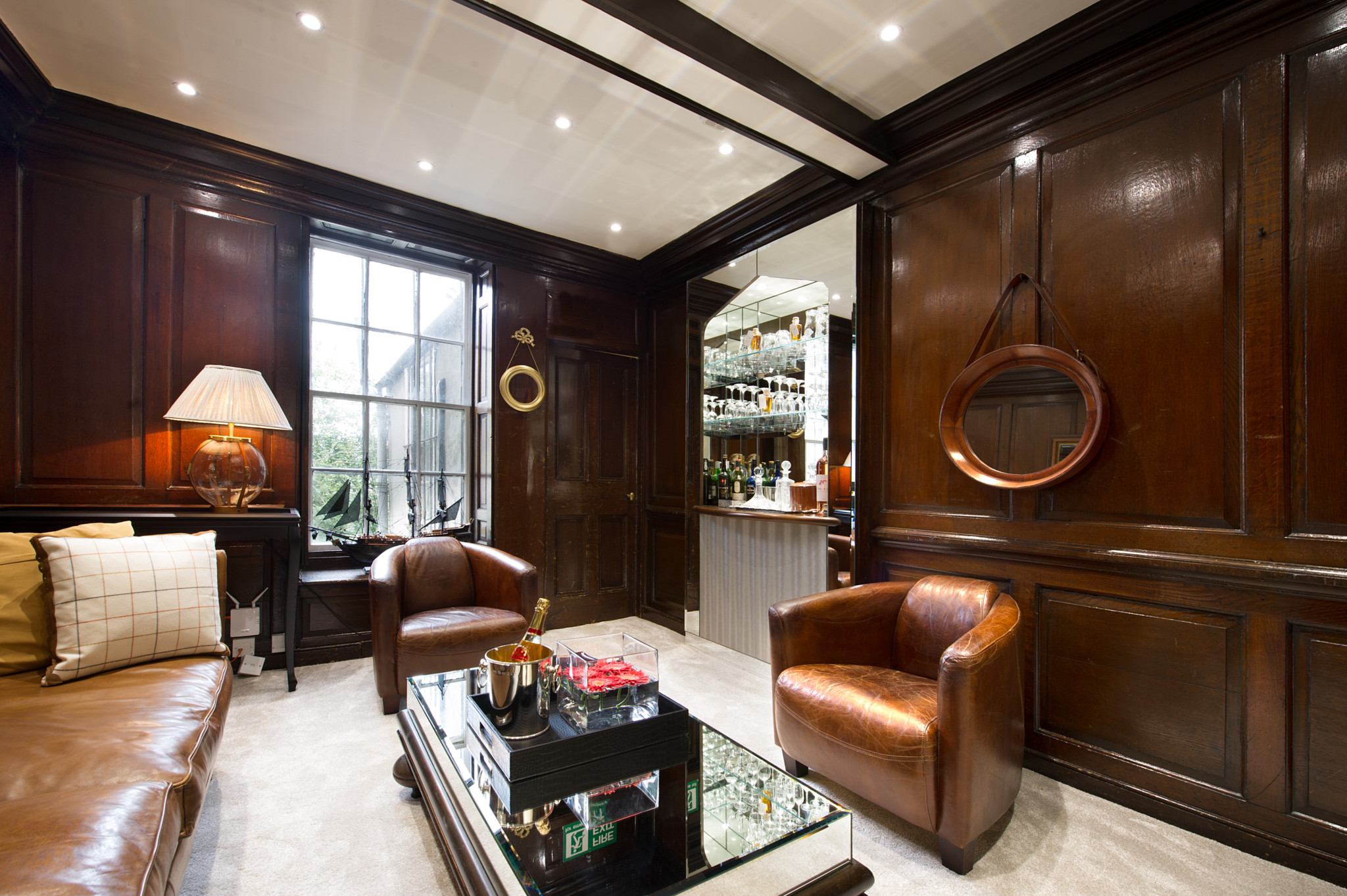 The luxury interior of Banks Lyon in Lancaster.
