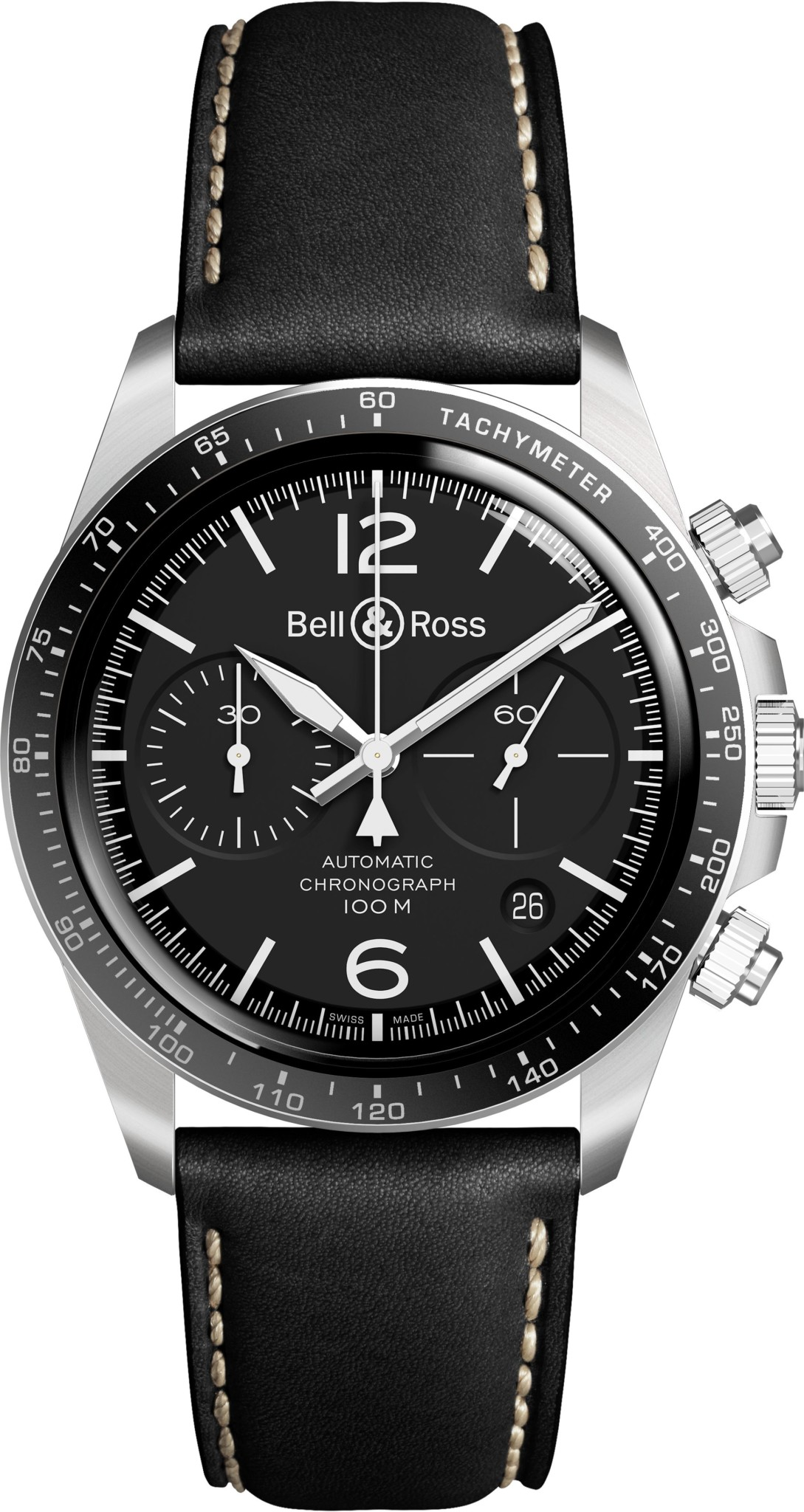 Bell and Ross -V2-94-Black-LEATHER