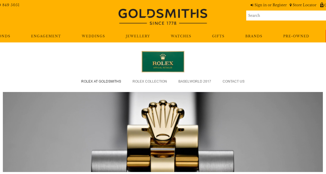 Rolex at Goldsmiths