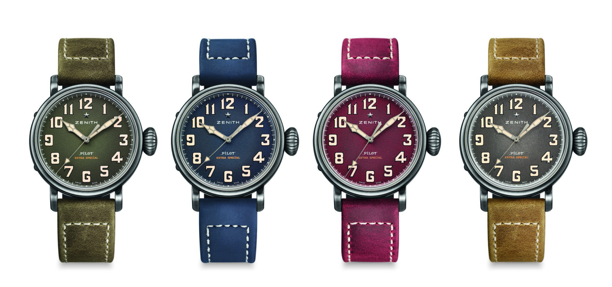 Zenith has created multiple colours of its Pilot Type 20 this year that will look great on display.