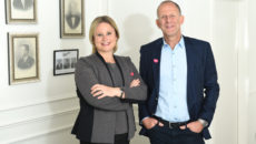 Beaverbrooks chief executive Anna Blackburn and chairman Mark Adlestone.