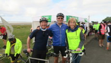 David Carleton, Mark Adlestone (Chairman) and Susie Nicholas (Charity Manager) - enjoy the Beaverbrooks Bike Ride.
