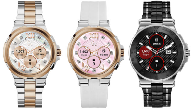 Smartwatches launched by Gc at Baselworld.