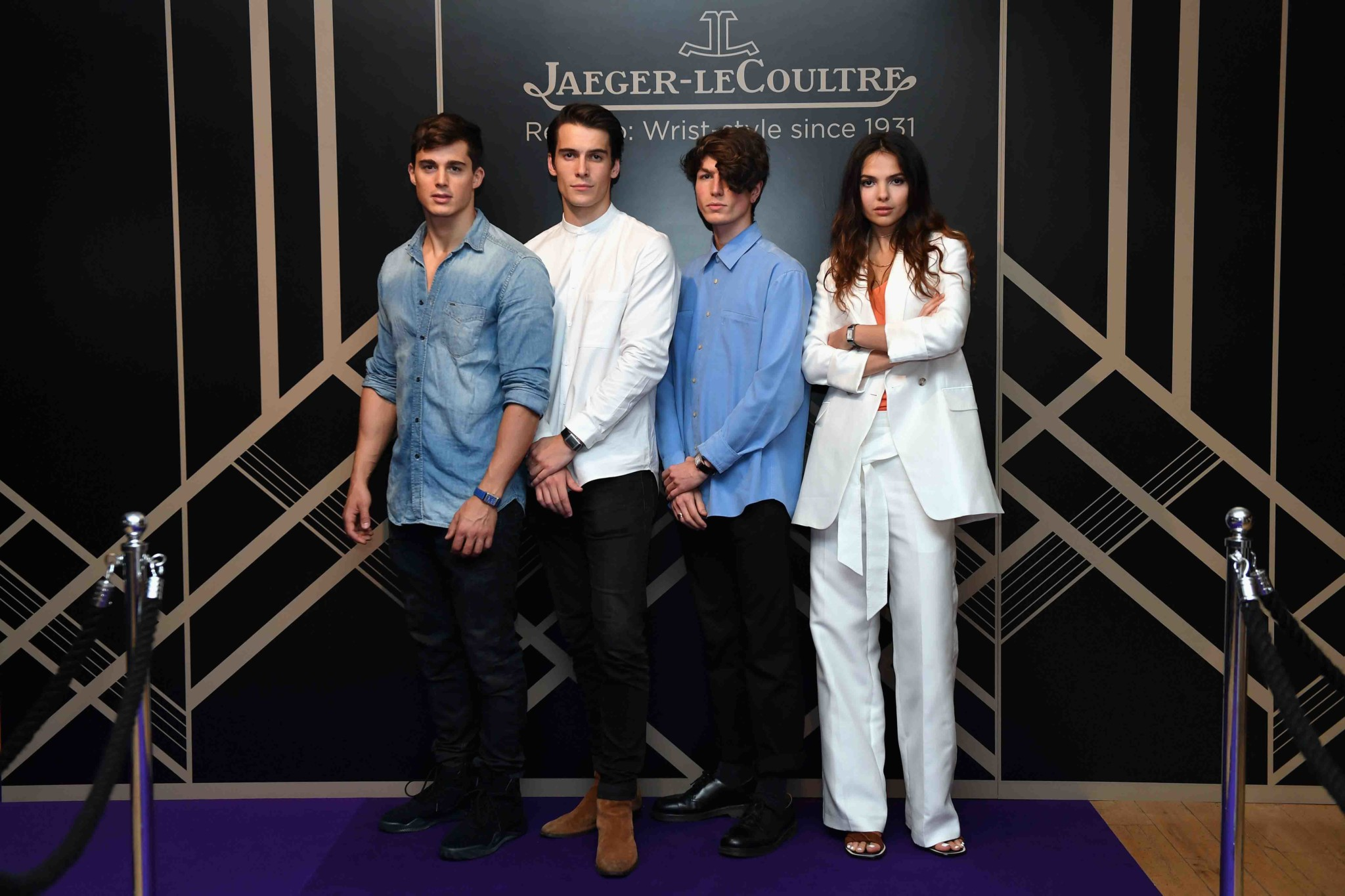 "LONDON, ENGLAND - MAY 31: (L-R) Pietro Boselli, Harry Rowley, Zaki Maoui and Doina Ciobanu attend Jaeger-LeCoultre & Christie's ""Roaring 20's, Reverso 30's"" Party at Christie's South Kensington on May 31, 2017 in London, England. (Photo by Chris J Ratcliffe/Getty Images for Jaeger-LeCoultre) *** Local Caption *** Pietro Boselli; Harry Rowley; Zaki Maoui; Doina Ciobanu"