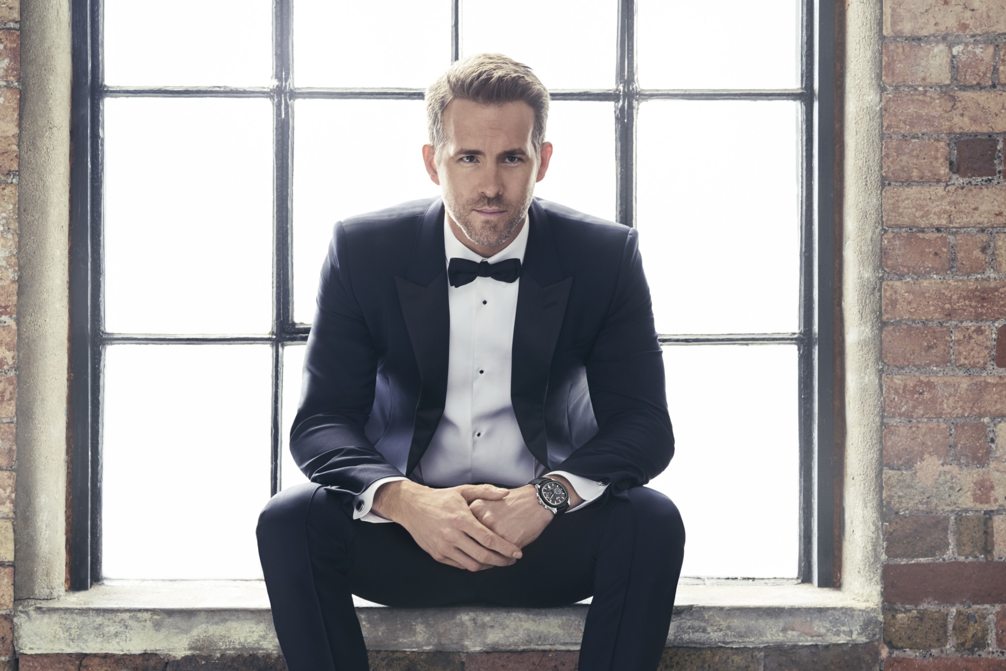 Ryan Reynolds models the 2017 Piaget Polo S.