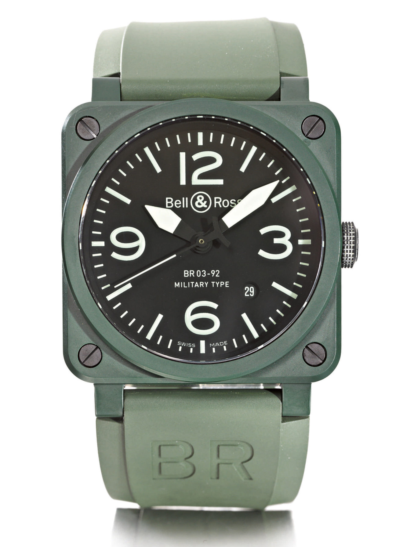 9730 Green Coated Ceramic Square Form Automatic (lot 2, 1)