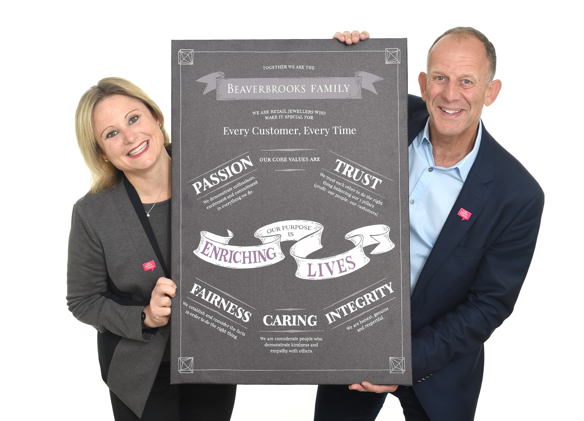 Anna Blackburn and Mark Adlestone stand behind the companys core values of passion, trust, fairness and integrity.