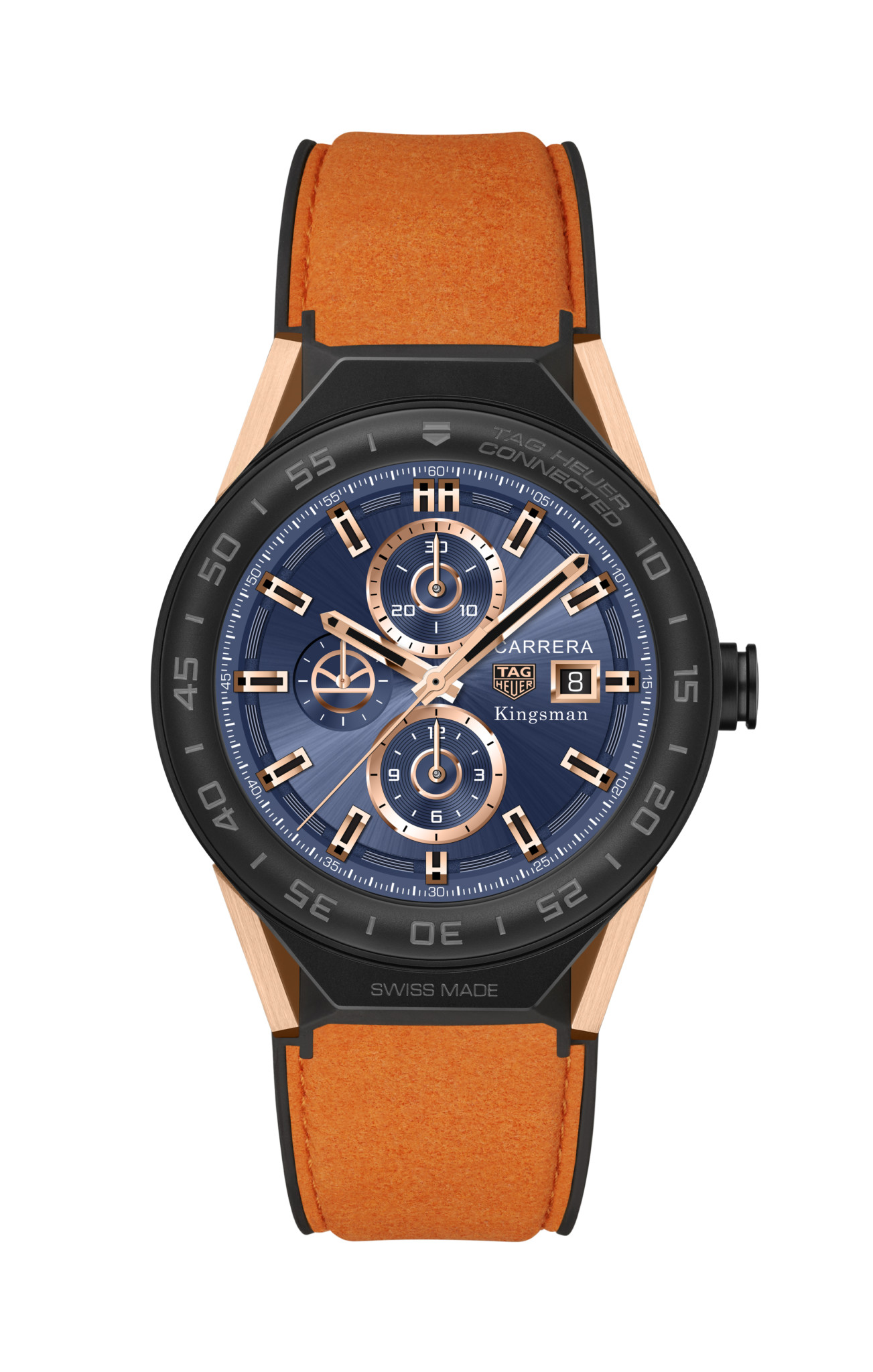 TAG Heuer SBF8A8023.32EB0103 KINGSMAN SPECIAL EDITION - ORANGE ALCANTARA STRAP 2017 HD