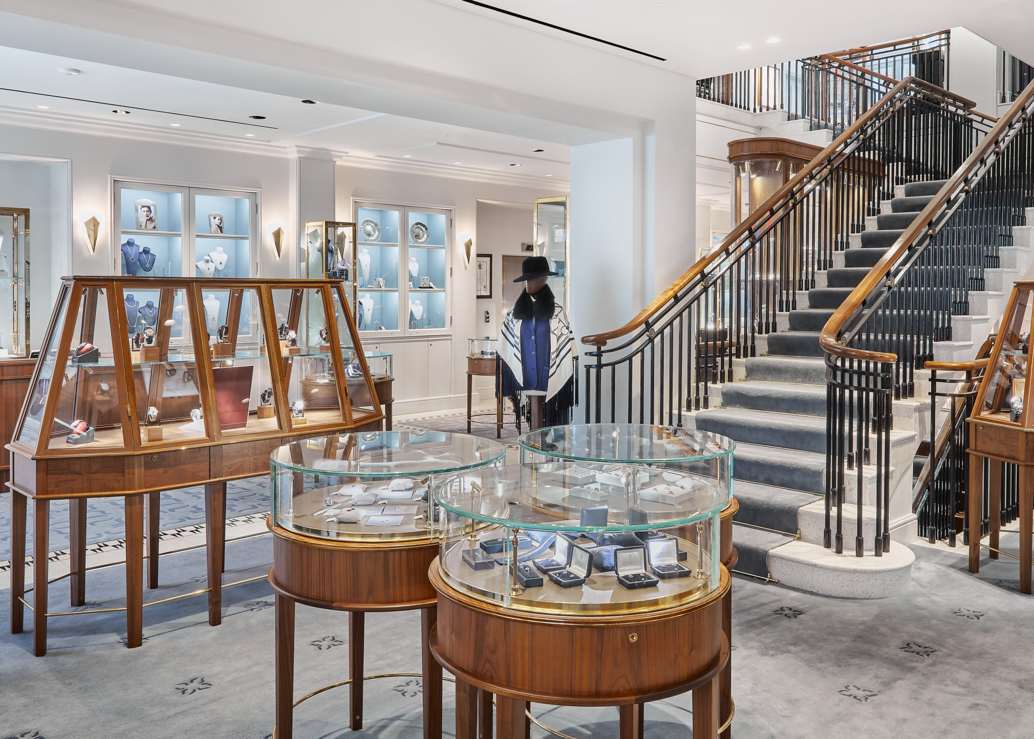 Watches take pride of place on the ground floor at William & Son, reflecting William Asprey's passion for collectable timepieces.