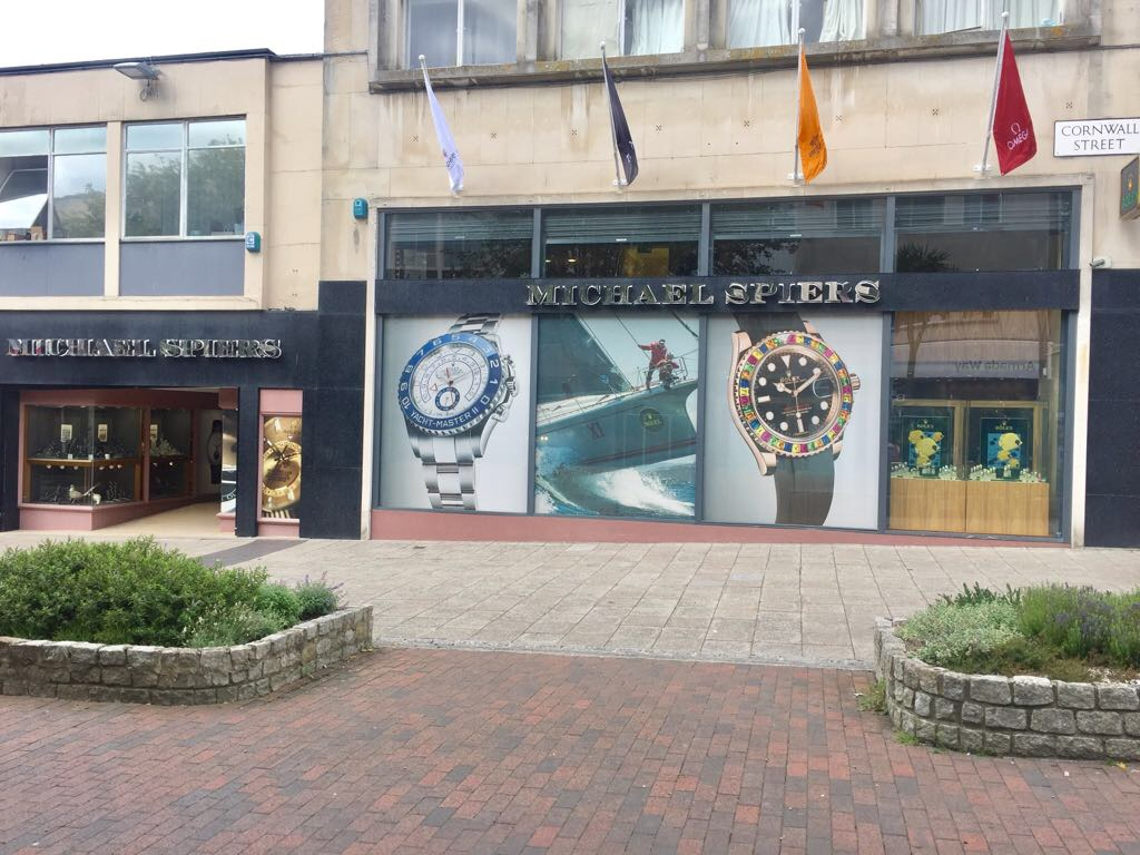 Michael Spiers has dedicated the windows of its Plymouth store to the Rolex Fastnet Race.
