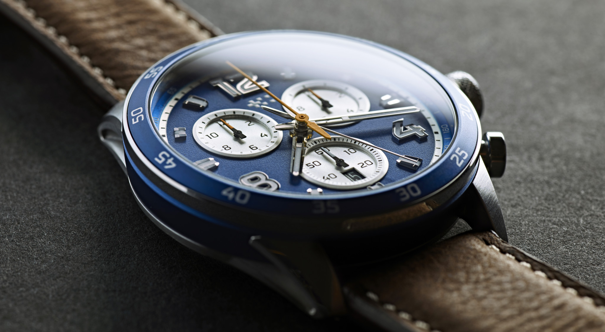 The Christopher Ward Limited Edition COSC Automatic Chronograph.