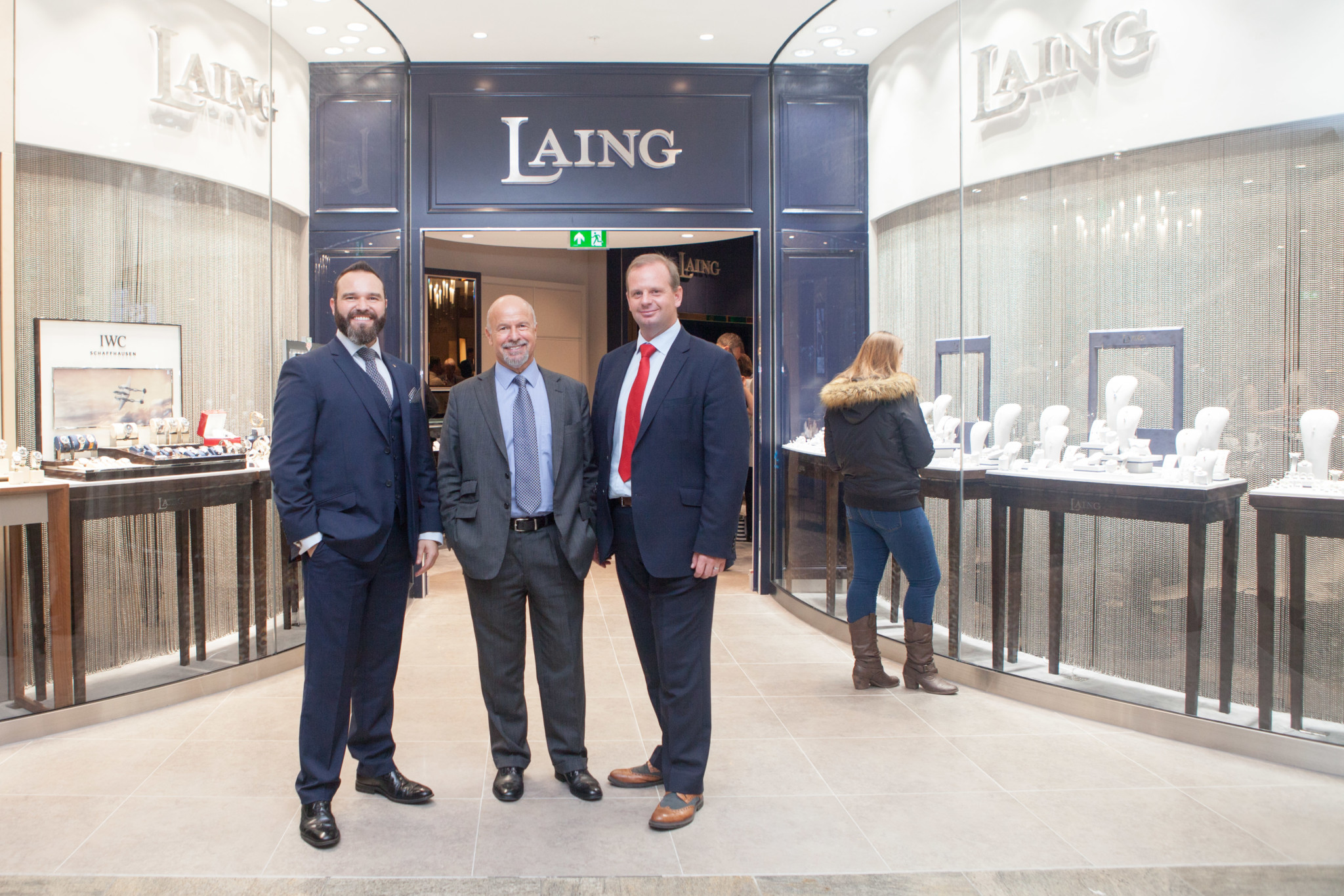 Richard Laing, Store Director, Michael Laing OBE, and Joe Walsh, CEO of Laings at the official opening in Southampton.