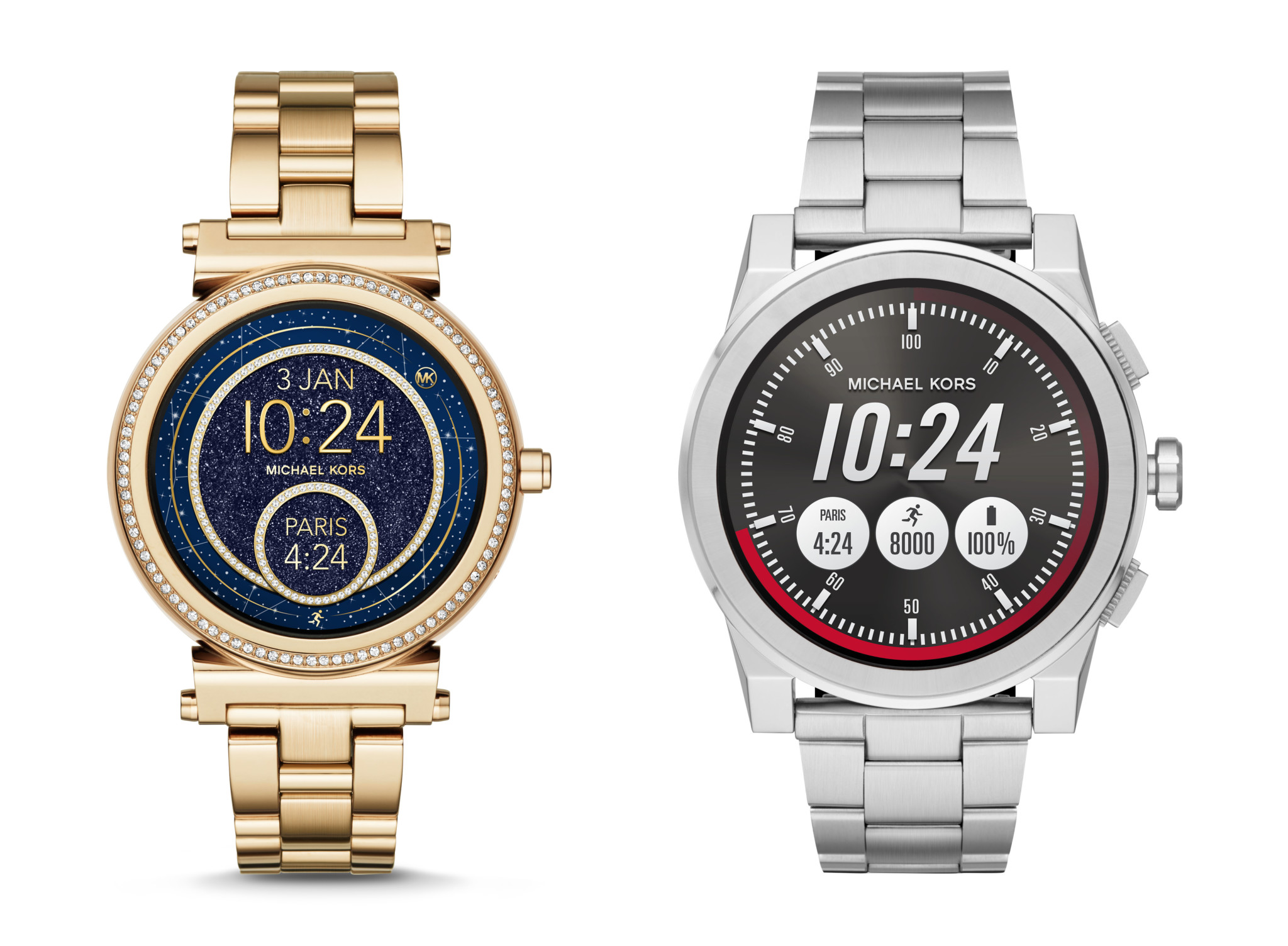 Michael Kors Sophie and Grayson smartwatches.