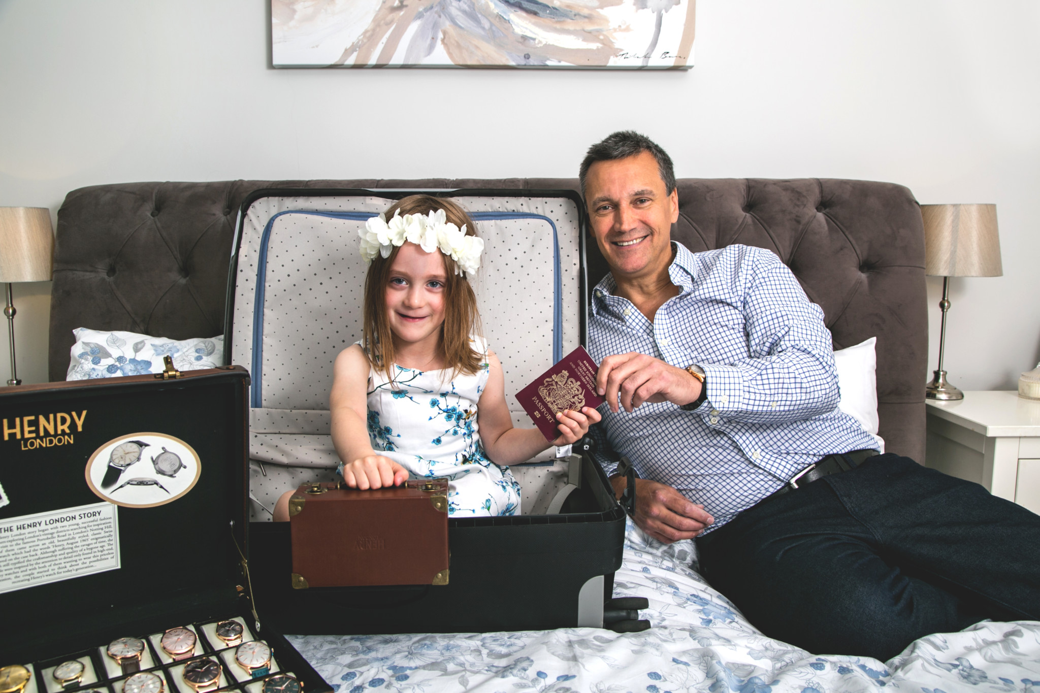 Paul Harry with his daughter in his 2016 WatchPro Hot 100 profile when he was travelling the world promoting Henry London.