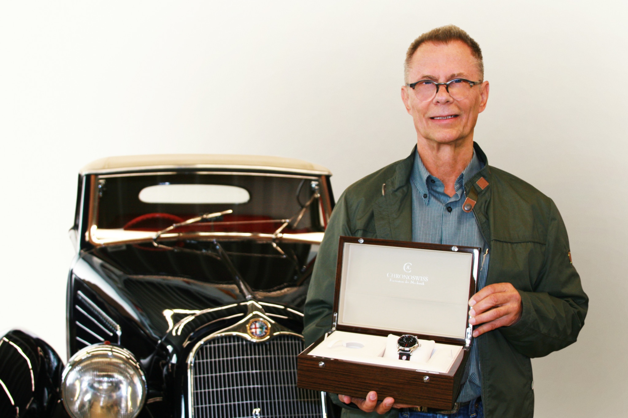 Winner Koni Lutziger with Chronoswiss Regulator Classic Rallye