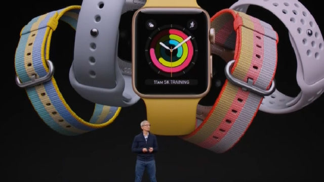 Tim Cook announces the Apple Watch Series 3.