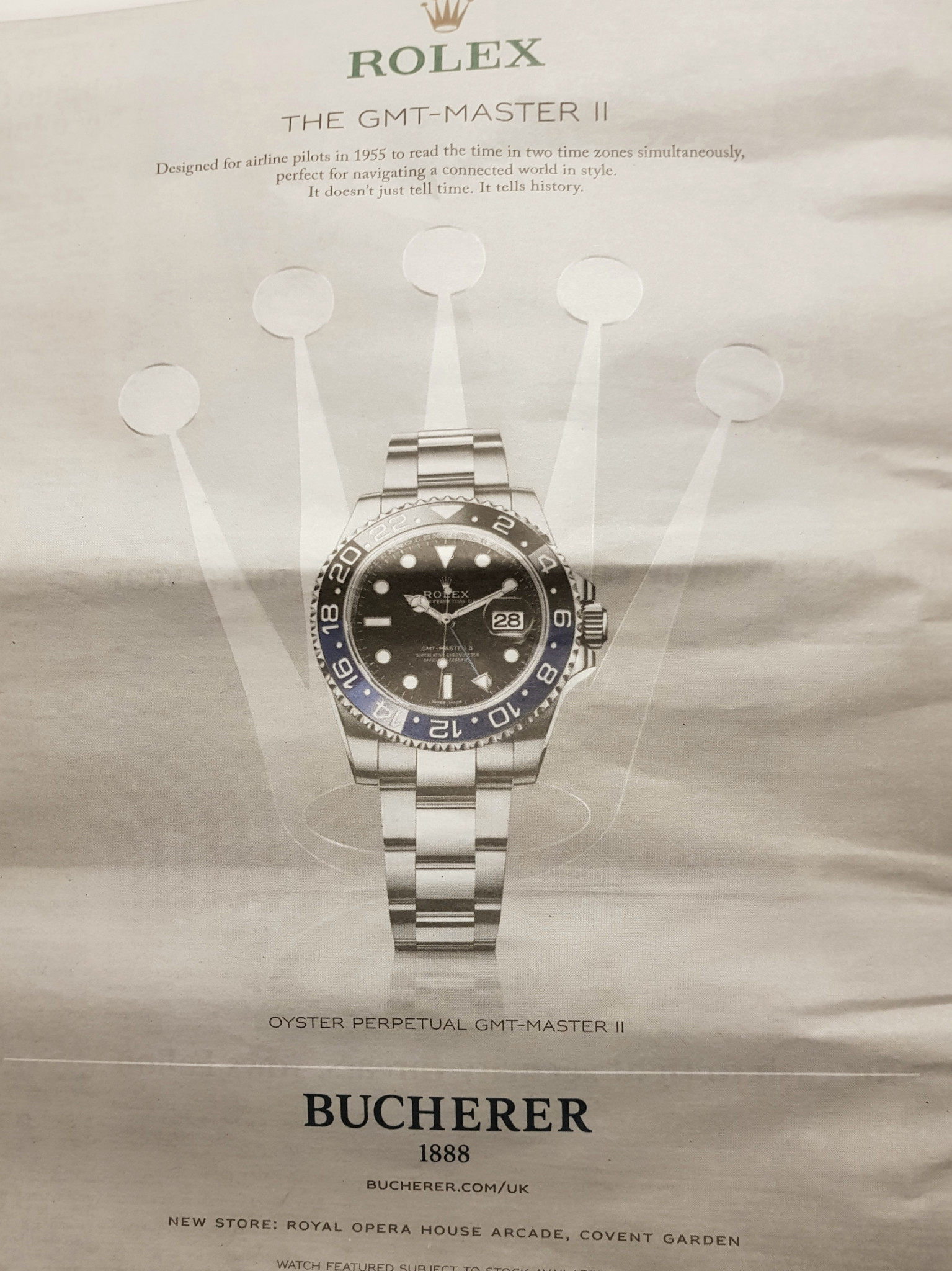 Bucherer Rolex advert