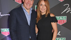 TAG Heuer UK Managing Director Rob Diver and Geri Horner attend the launch of the TAG Heuer Muhammad Ali Limited Edition Timepieces. (All pictures Credit: Dave Benett).