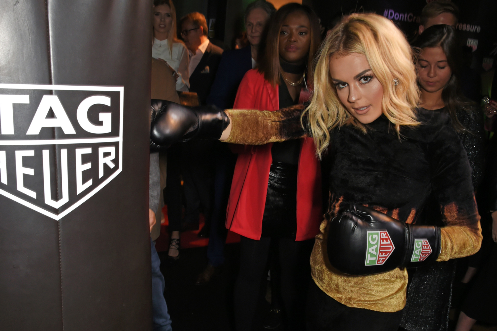 LONDON, ENGLAND - OCTOBER 10:  Tallia Storm attends the launch of the TAG Heuer Muhammad Ali Limited Edition Timepieces at BXR Gym on October 10, 2017 in London, England.  Pic Credit: Dave Benett
