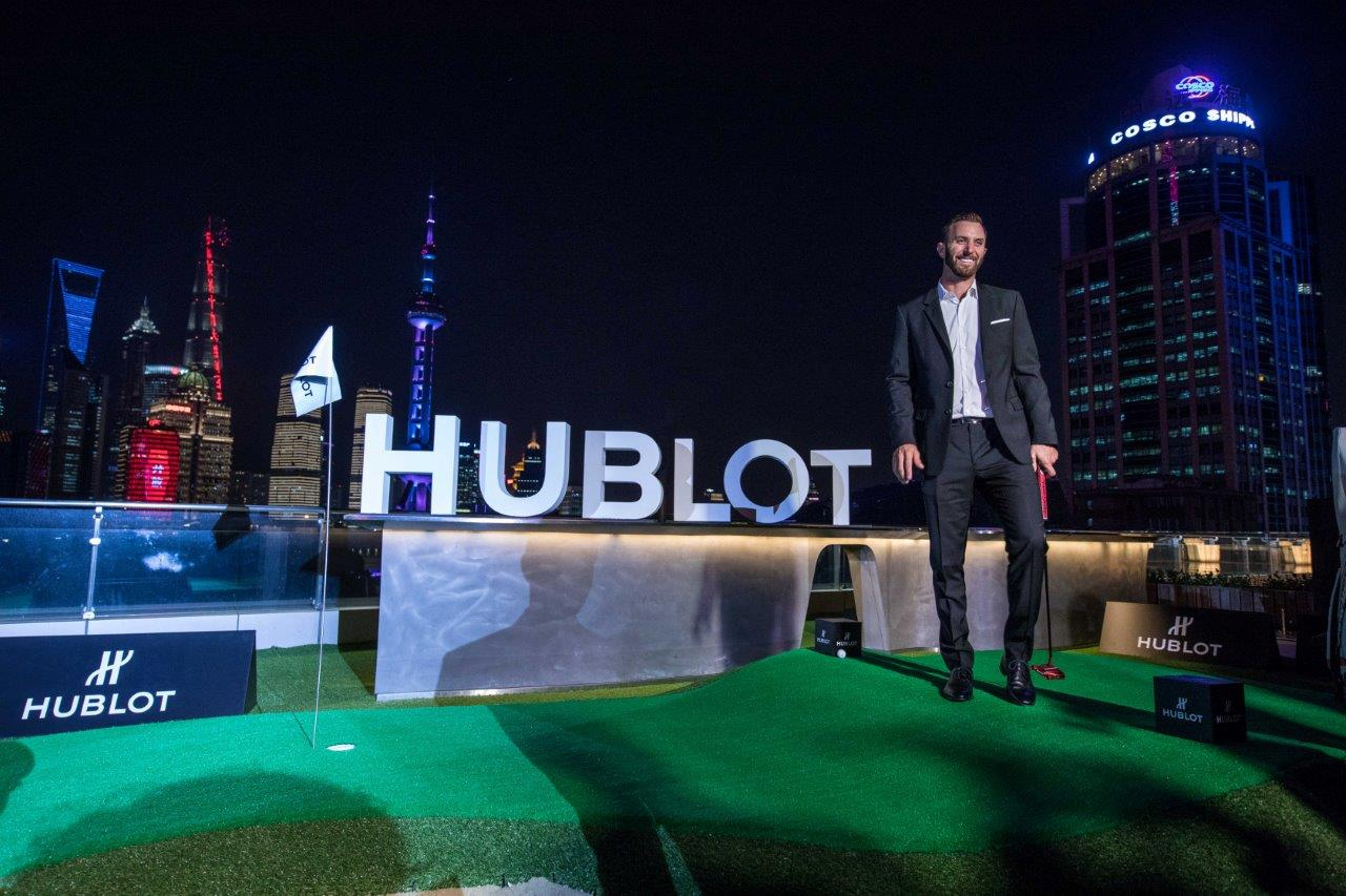World golf number one Dustin Johnson at the Hublot Big Bang Unico Golf launch in Singapore.