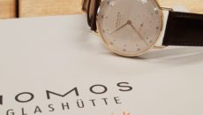 The Nomos Metro Neomatik in rose gold costs £7000.