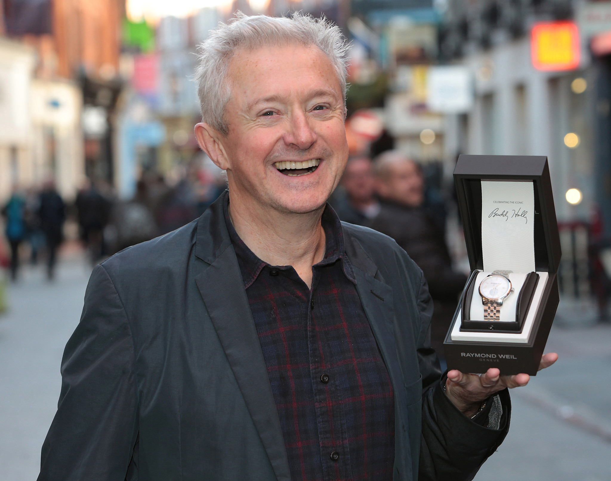 Louis Walsh pictured at Weirs Grafton Street with his Raymond Weil  Limited Edition maestro.