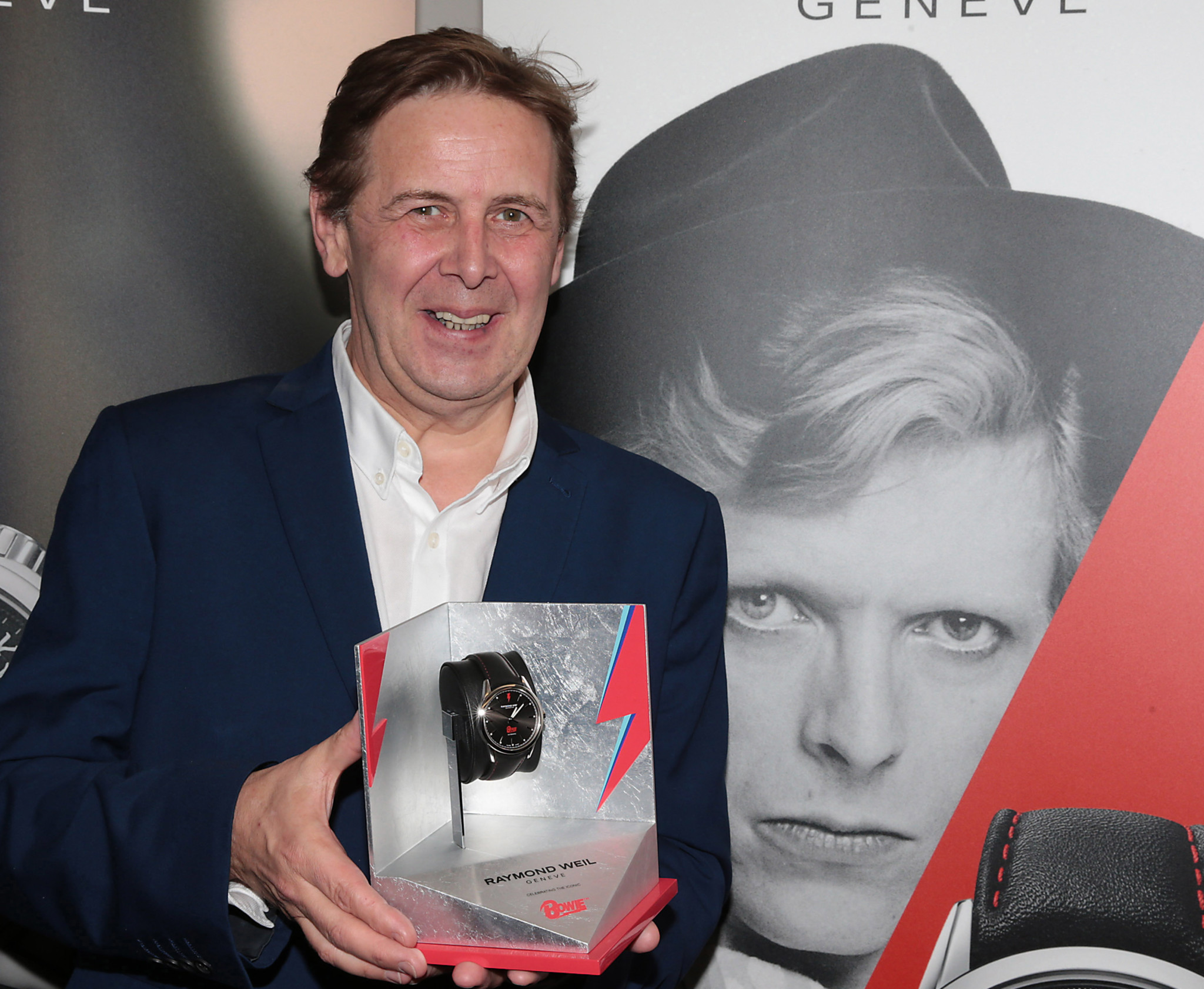 Ian Dempsey was presented with a Raymond Weil Limited Edition freelancer David Bowie watch.
