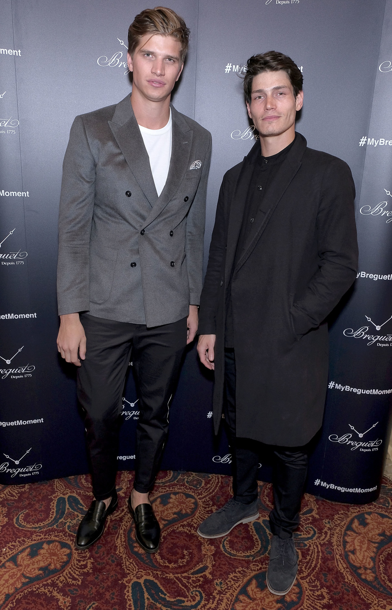 LONDON, ENGLAND - OCTOBER 04: Toby Huntington-Whiteley and Sam Way attend the Breguet Classic Tour #MyBreguetMoment in association with The Gentleman's Journal at Mark's Club on October 4, 2017 in London, England. (Photo by David M. Benett/Dave Benett/Getty Images for Breguet) *** Local Caption *** Toby Huntington-Whiteley; Sam Way