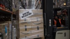 Amazon's fulfillment centre in Peterborough is gearing up for its busiest Black Friday ever. AFP PHOTO / CHRIS J RATCLIFFE        (Photo credit should read CHRIS J RATCLIFFE/AFP/Getty Images)