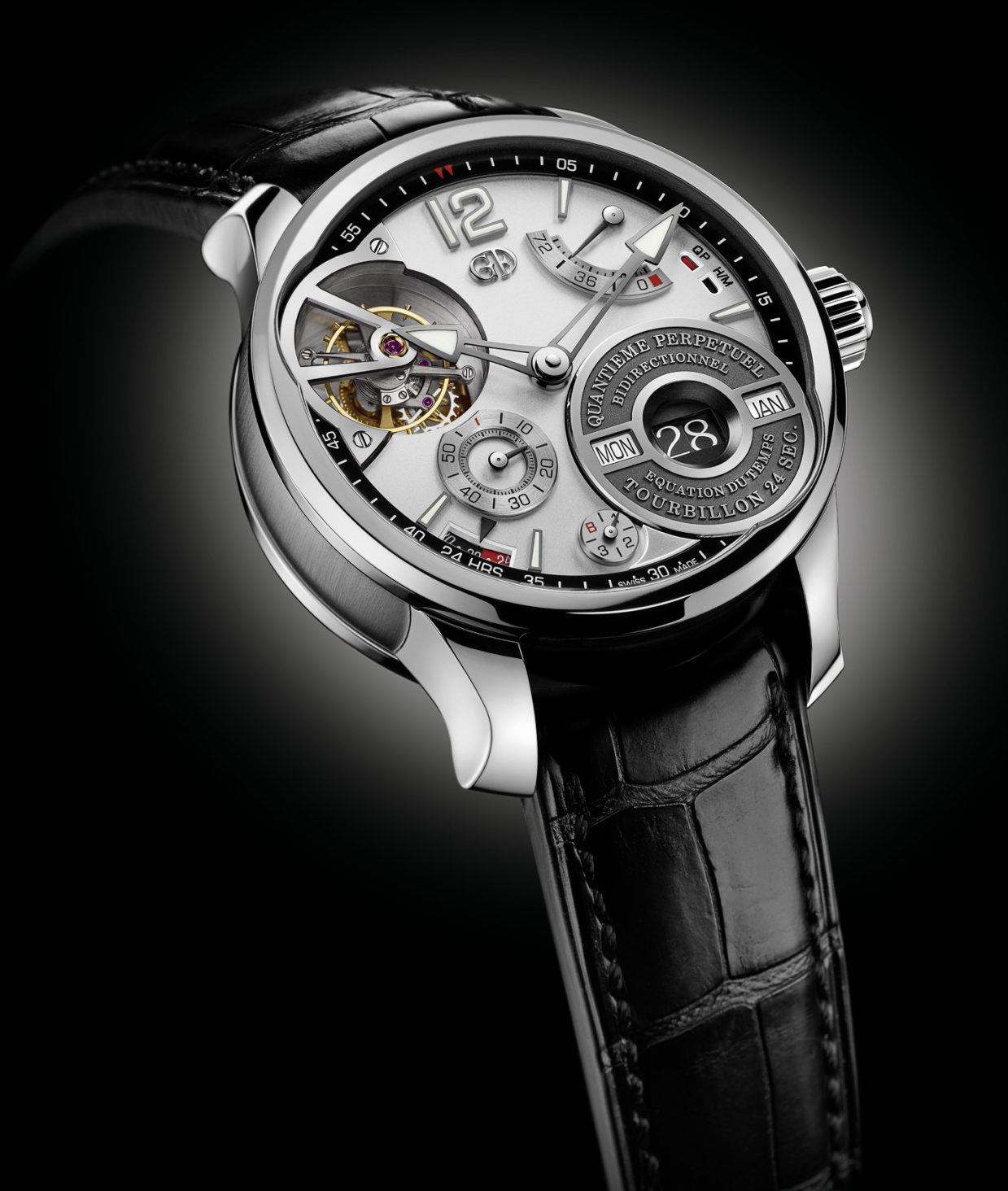 Tourbillon Skeleton Calendar Watch Prize: Greubel Forsey, QP à Équation.